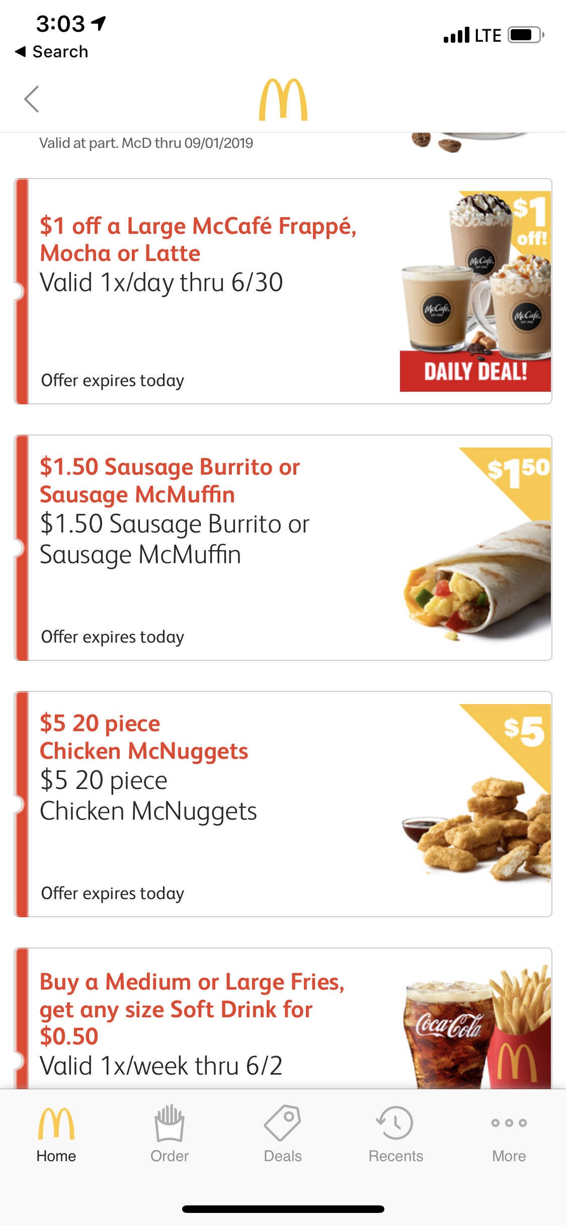 McDonalds App Coupons