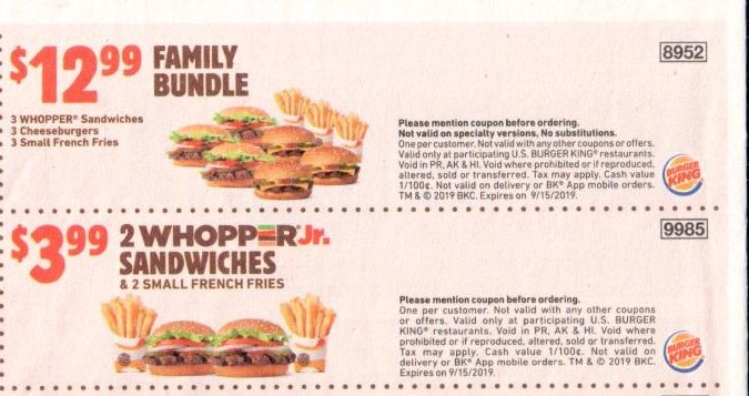 picture relating to Burger King Printable Application identified as Burger King Discount codes and Cost savings