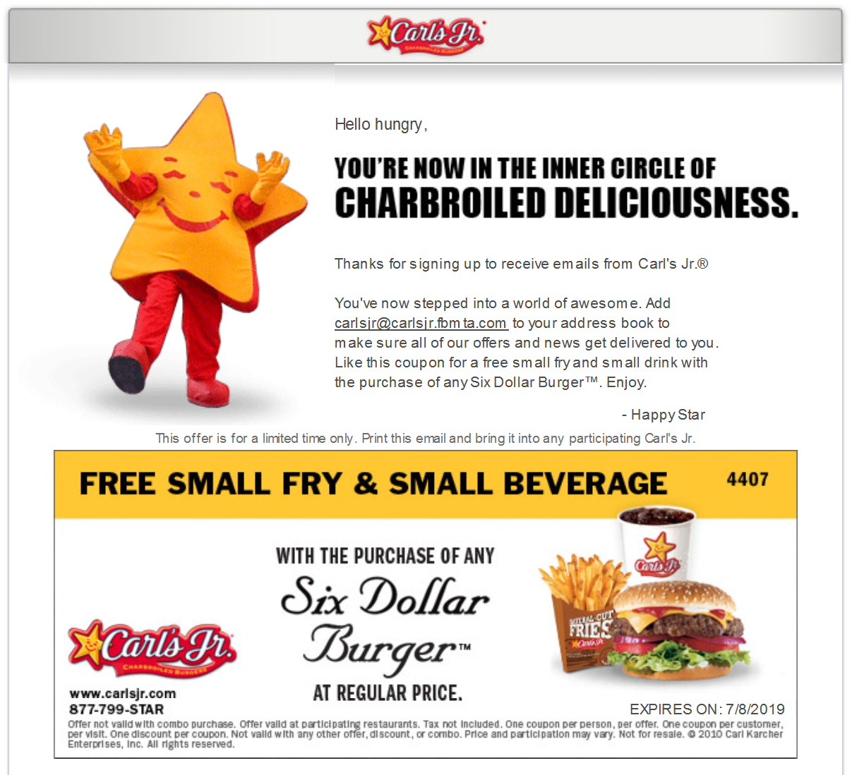 photograph regarding Fry's Printable Coupons identify Carls Jr. Coupon codes and Savings