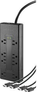 picture of Insignia 8-Outlet Surge Protector Strip with 2 HDMI Cables Sale