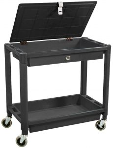 picture of Astro Pneumatic Tool 2 Shelf Plastic Cart with Locking Lid Sale