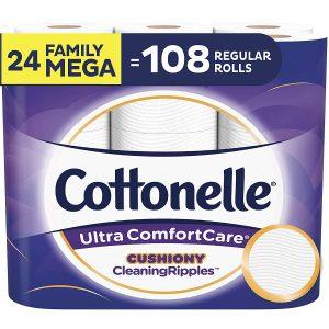 picture of Cottonelle Ultra ComfortCare Toilet Paper, 24 Family Mega Rolls Sale