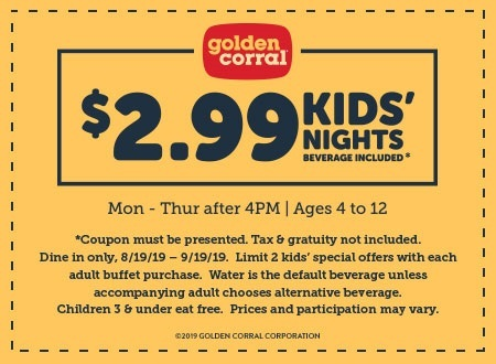 photo regarding Golden Corral Printable Coupons identified as Golden Corral Discount codes and Personal savings