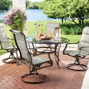 picture of Hampton Bay Statesville 5 Piece Padded Dining Set Sale