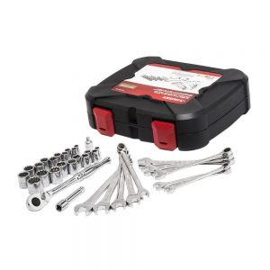 picture of Huskey 1/4 in. and 3/8 in. Drive Universal Mechanics Tool Set (33-Piece) Sale
