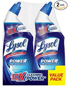 picture of Lysol Power Toilet Bowl Cleaner, 48oz (2X24oz), 10X Cleaning Power Sale