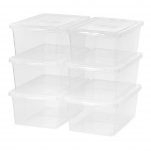 picture of Mainstays 17-Quart (4.25-Gallon) Sweater Box Storage, Clear, 6-Pack Sale