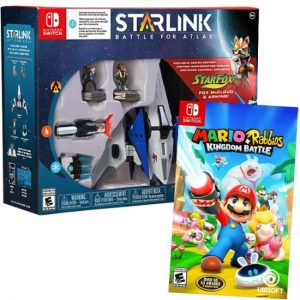 picture of Nintendo Switch - Mario + Rabbids Kingdom Battle and Starlink: Battle for Atlas Starter Pack featuring Star Fox