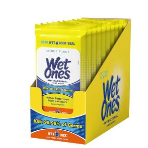 picture of Wet Ones Citrus Antibacterial Hand Wipes, 20 Count (Pack Of 10)