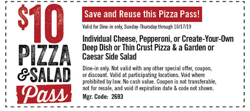 Uno Pizzeria & Grill Coupon