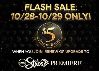 picture of AMC Stubs Premiere Membership $5 Bonus Buck