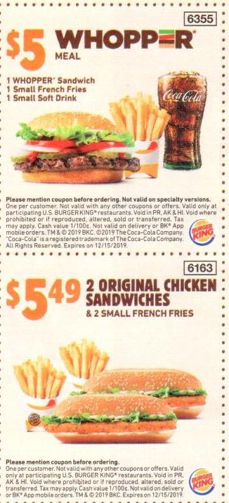 Burger King Coupon