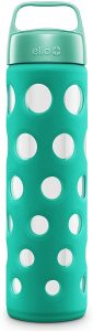 picture of Ello Pure Glass Water Bottle with Silicone Sleeve Sale