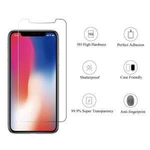 picture of HOMEMO Screen Protector iPhone 11 Pro/XS/X, Tempered Glass Film, 3-Pack Sale