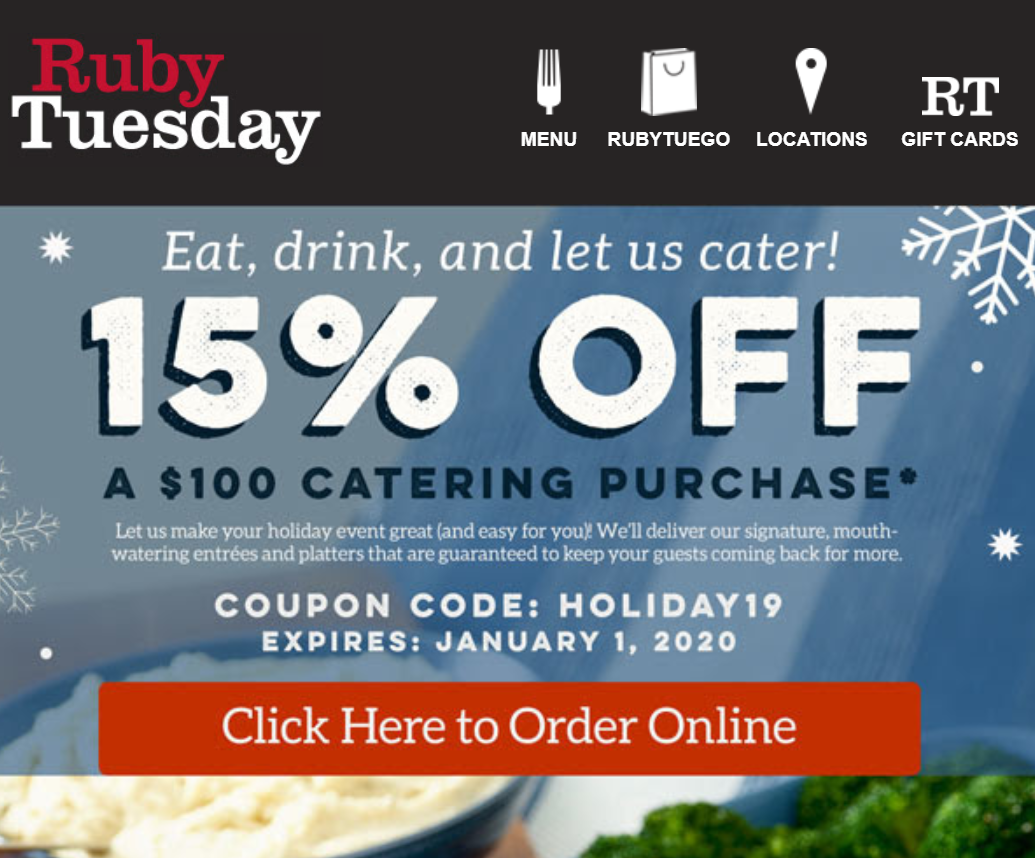Printable Coupons 2020.Ruby Tuesday Coupons And Discounts