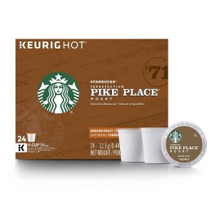 picture of 4 boxes of 24 Starbucks French Roast K-Cups - 96 Pods