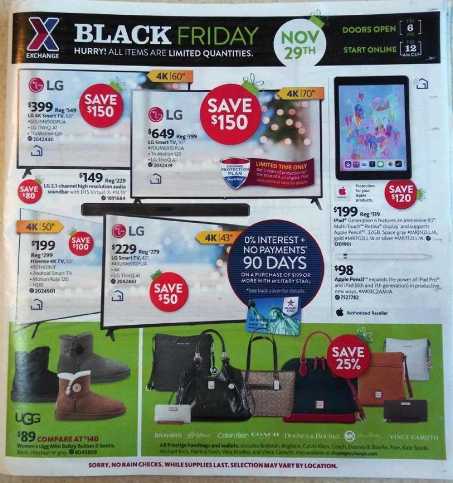 AAFES Black Friday 2019 Ad