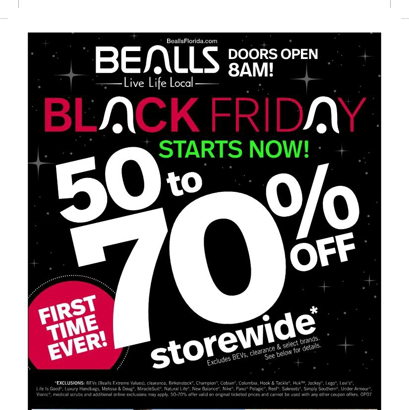 Bealls Black Friday 2019 Ad