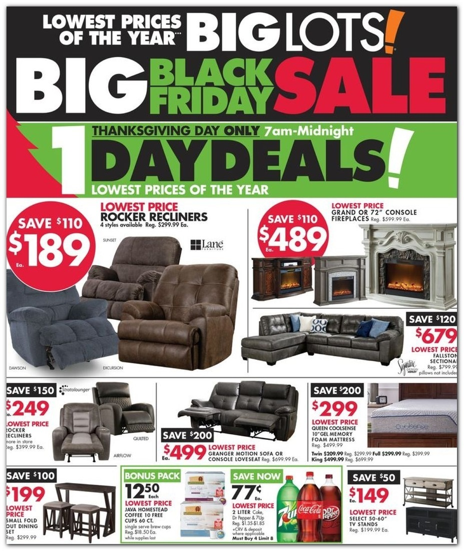Black Friday Couch Deals: Big Lots Black Friday 2019 Ad Scans