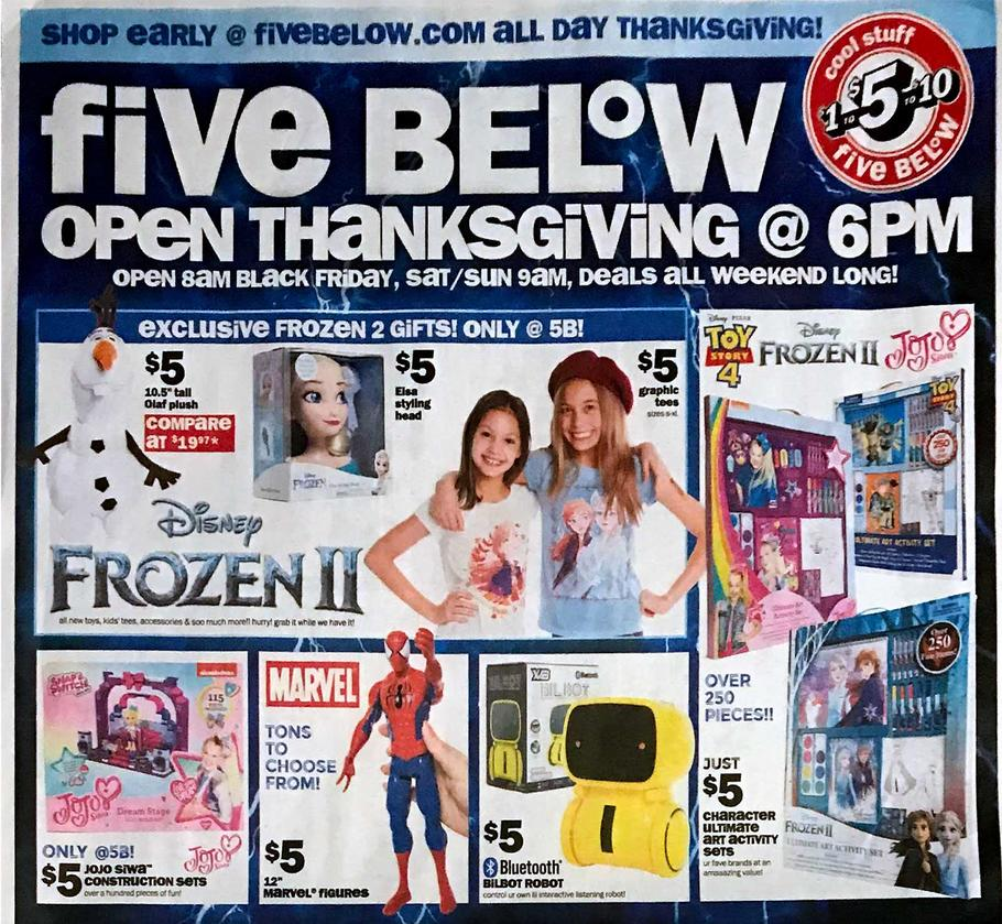 Five Below Black Friday 2019 Ad Scans