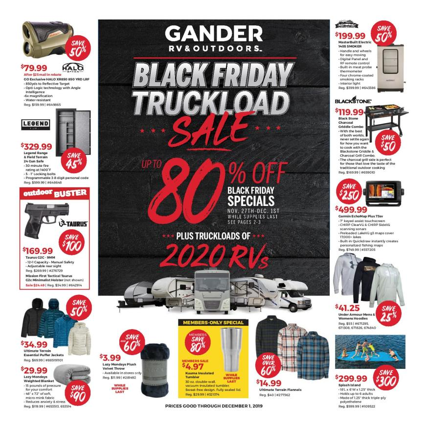Gander Outdoors Black Friday 2019 Ad