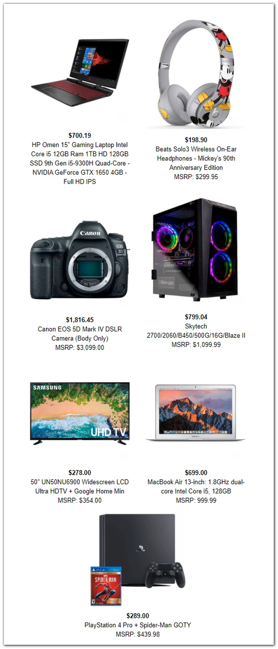 Google Shopping Black Friday 2019 Ad Scans