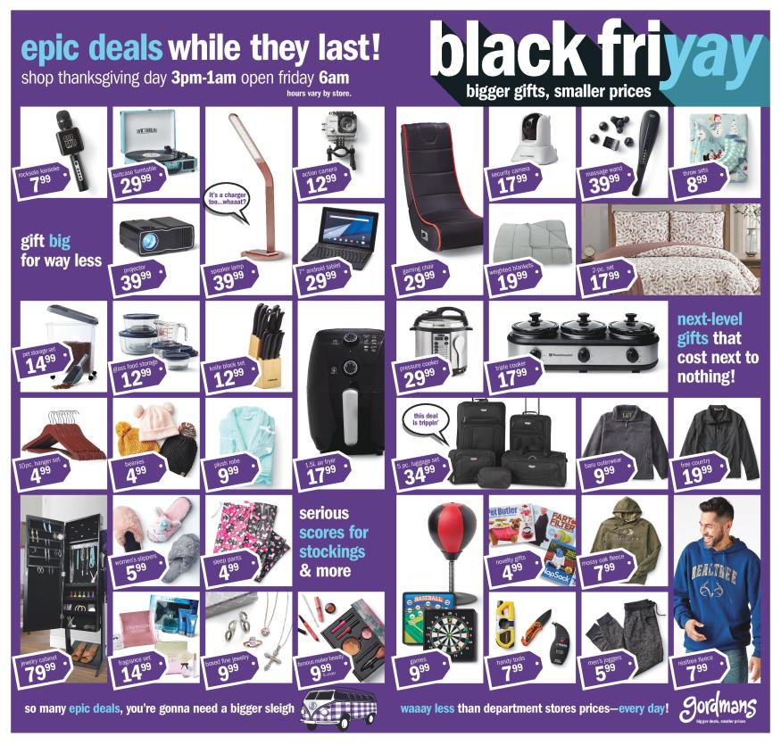 Gordmans Black Friday 2019 Ad Scans