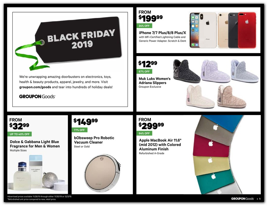 Groupon Black Friday 2019 Ad