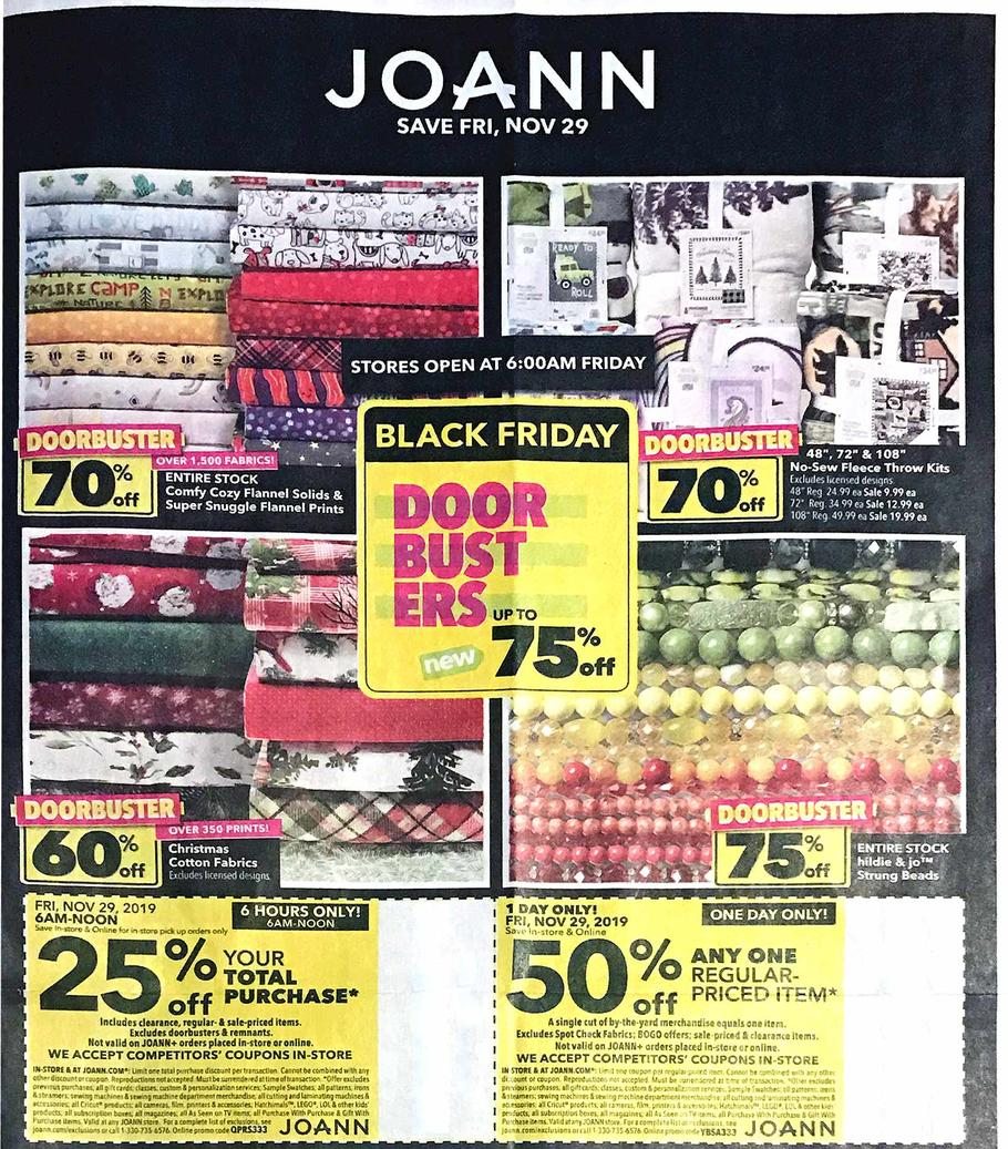 Jo Ann Black Friday 2019 Ad