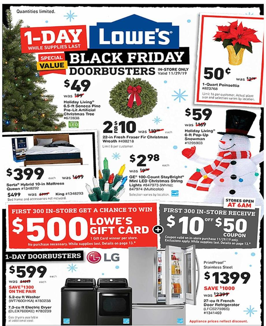 Lowes Black Friday 2019 Ad