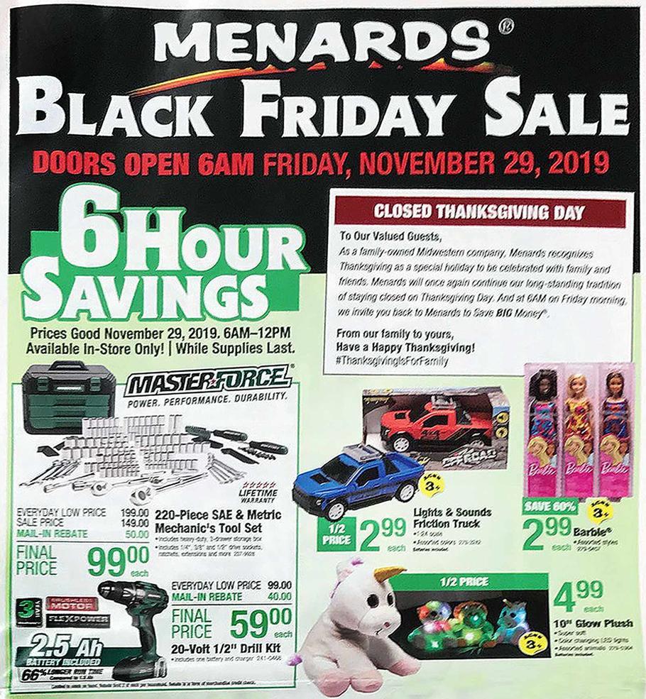 Menards Black Friday 2019 Ad
