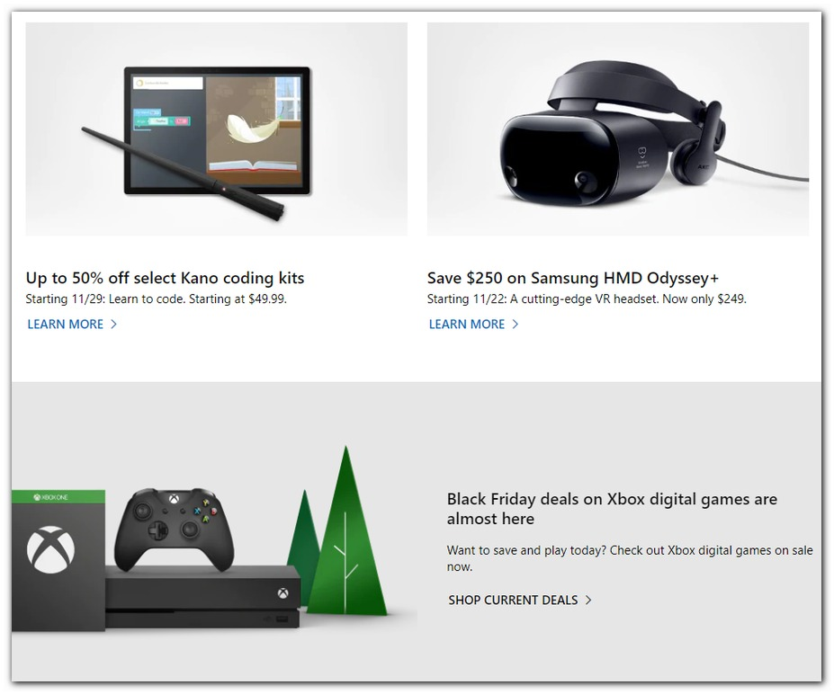 Microsoft Store Black Friday 2019 Ad Scans