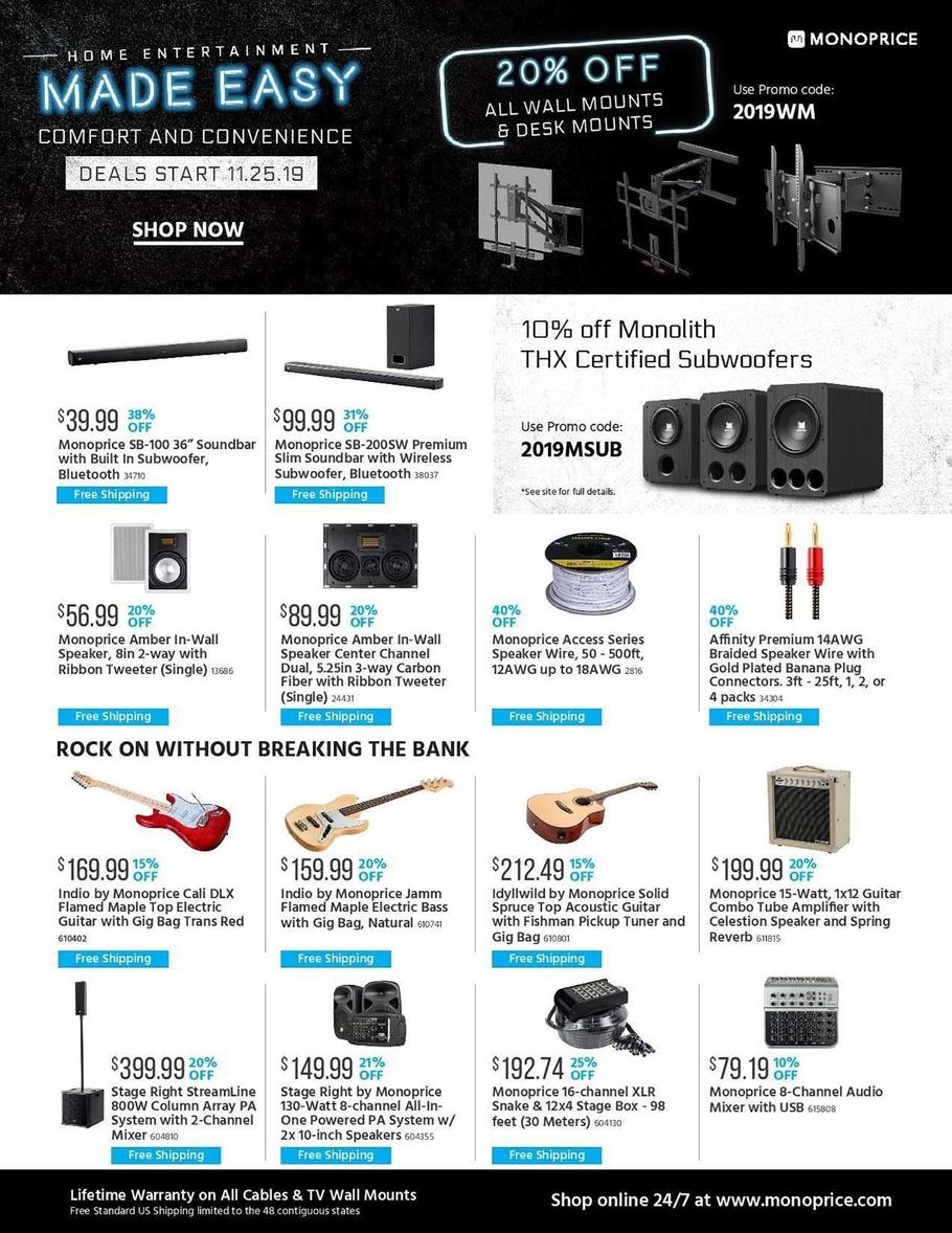 Monoprice Black Friday 2019 Ad Scans