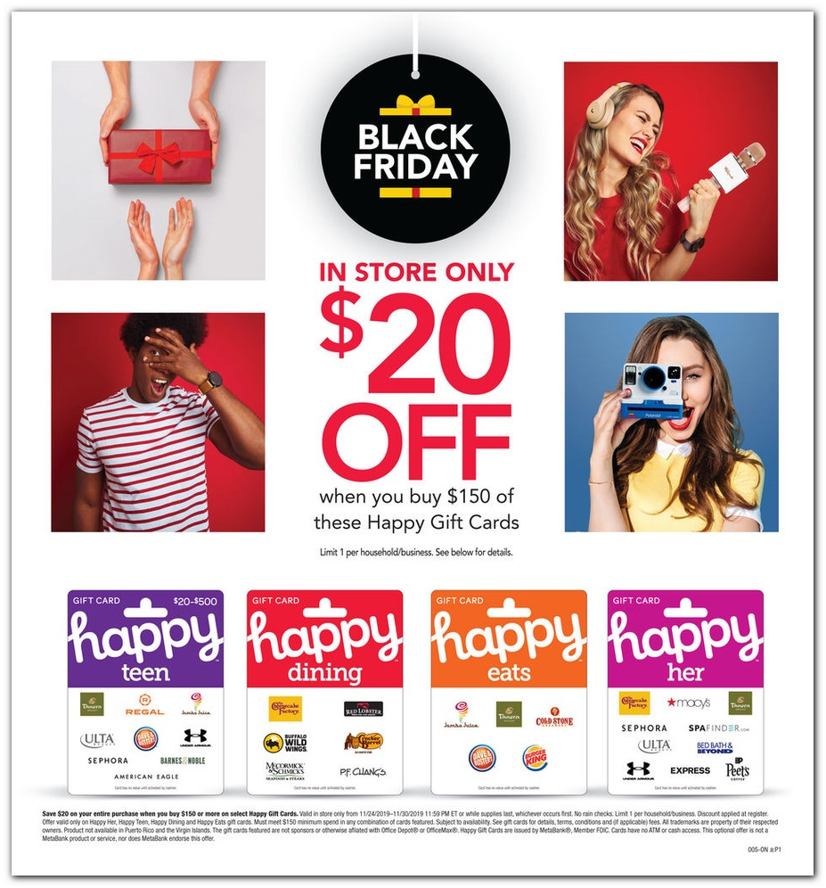 Office Depot OfficeMax Black Friday Ad 2019
