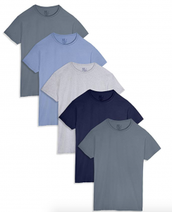 picture of Fruit of The Loom Men's Stay Tucked Crew T-Shirt 5pk Sale