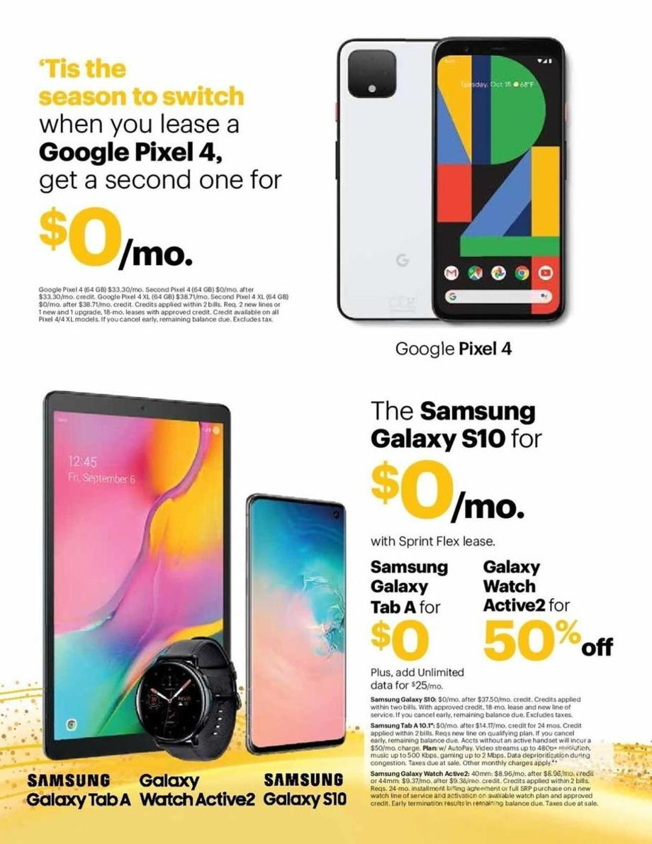 Sprint Black Friday 2019 Ad Scans
