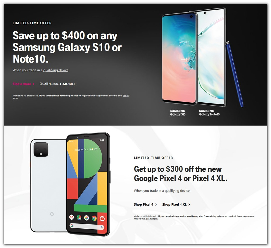 T-Mobile Black Friday 2019 Ad