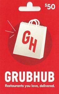 picture of $50 Grubhub Gift Card + $10 Bonus Card