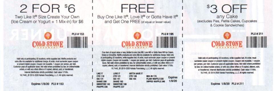 Cold Stone Creamery Coupon