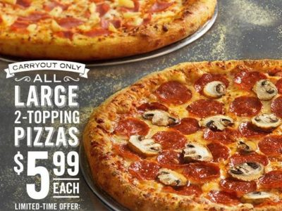 picture of Carryout Special: Large 2-Topping Pizza For $5.99 Each