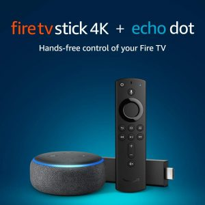 picture of Fire TV Stick 4K Digital Media Player plus Echo Dot 3rd Gen Sale