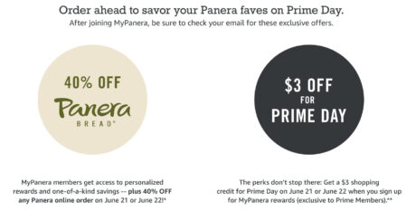 picture of Panera Bread w/ Amazon Prime Day Offers