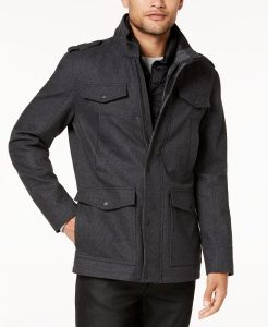 picture of GUESS Men's Military-Inspired Coat Sale