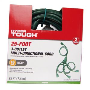 picture of Hyper Tough Outdoor 3 Outlet Cord Set