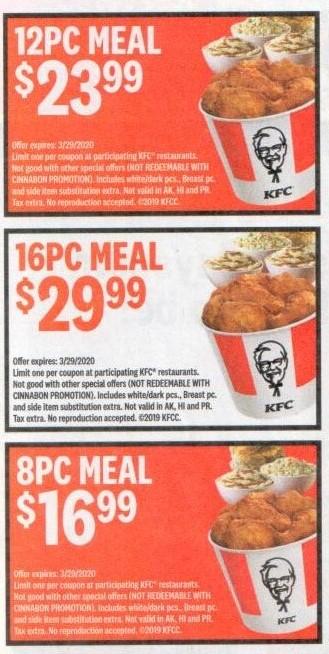 KFC Coupons and Discounts
