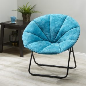 picture of Mainstays Folding Plush Saucer Chair Sale