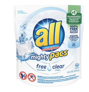 picture of All Mighty Pacs Laundry Detergent Free & Clear 22ct. Sale