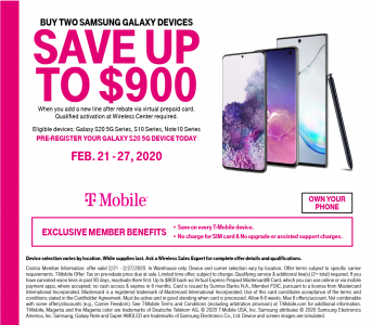 picture of Costco in Store: Buy Two Samsung Galaxy Phones w/New Line - upto $900 Rebate