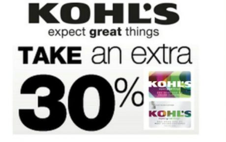 picture of Kohl's Cardholders 30% Off + Free Shipping - Clothes, Towels, Pillows, More