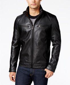 picture of Michael Kors Men's Faux-Leather Moto Jacket Sale